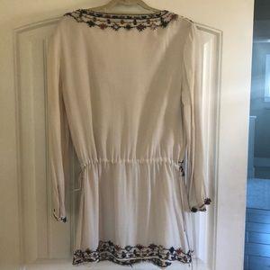 Antik Batik cream beaded blouse
